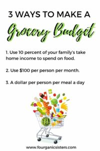 How to Make a Grocery Budget | Fourganic Sisters