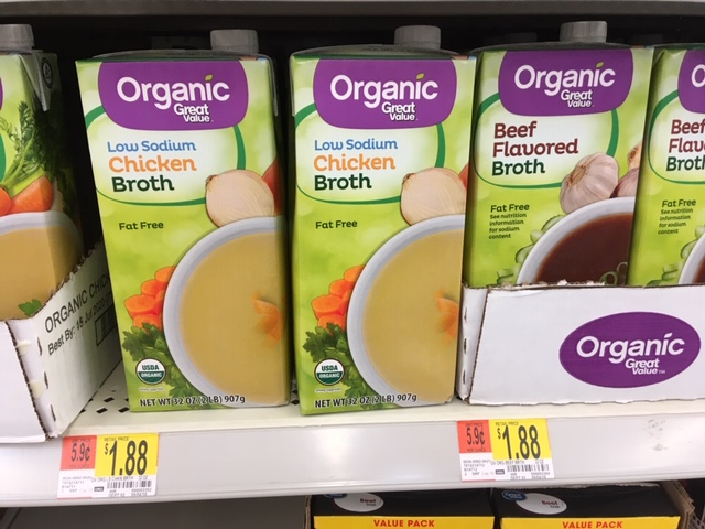 organic broth or stock