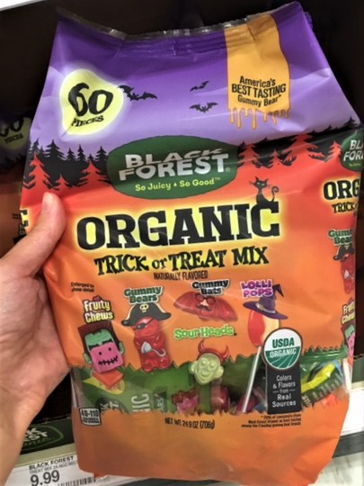 fourganic sisters healthy Halloween candy