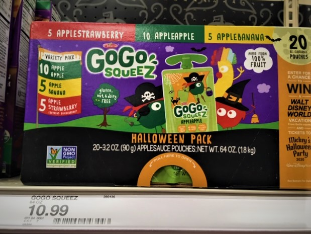 gogo squeez healthy halloween classroom treats fourganic sisters