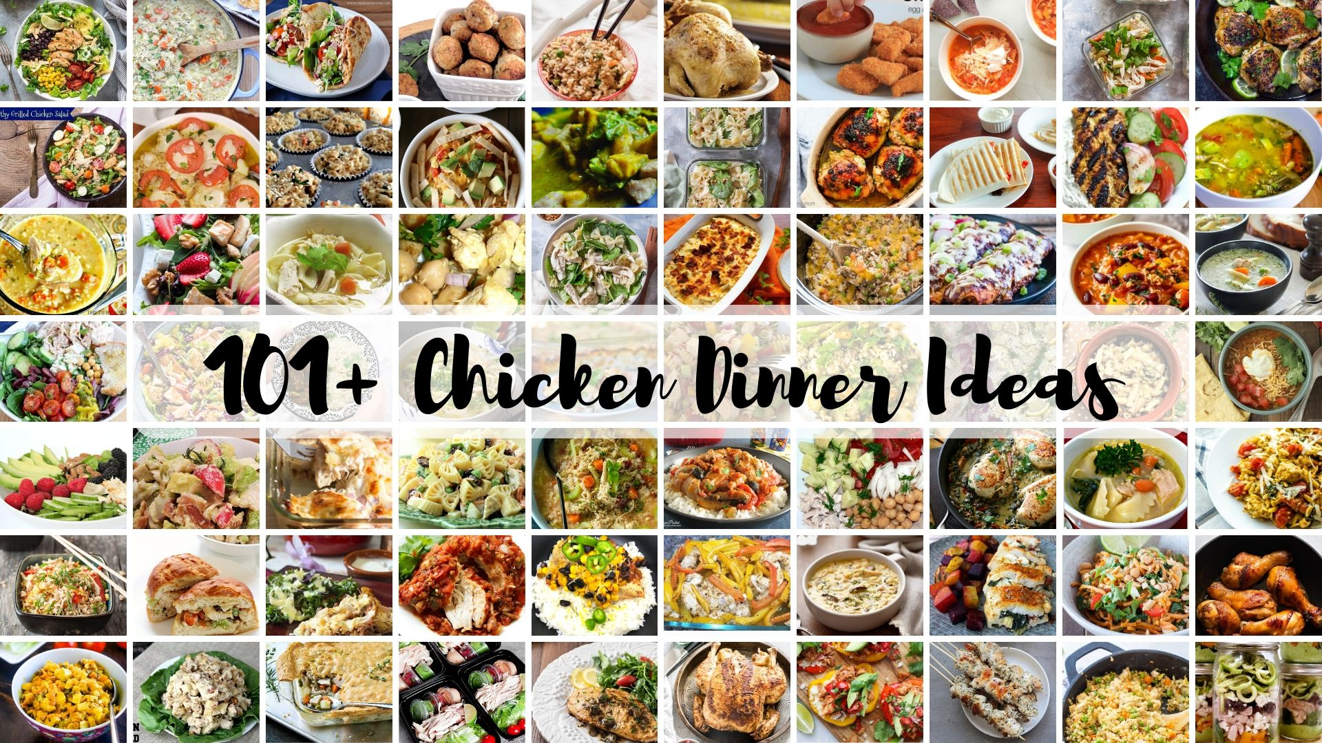 101 Chicken Dinner Ideas | Fourganic Sisters