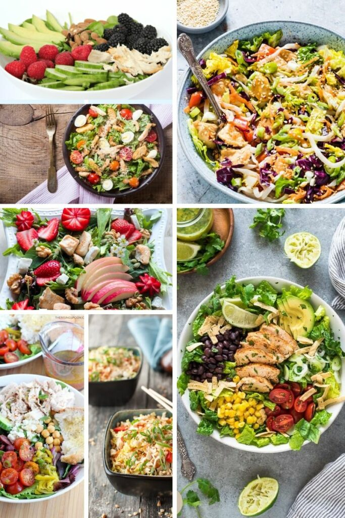 Salads with Chicken Ideas | Fourganic Sisters