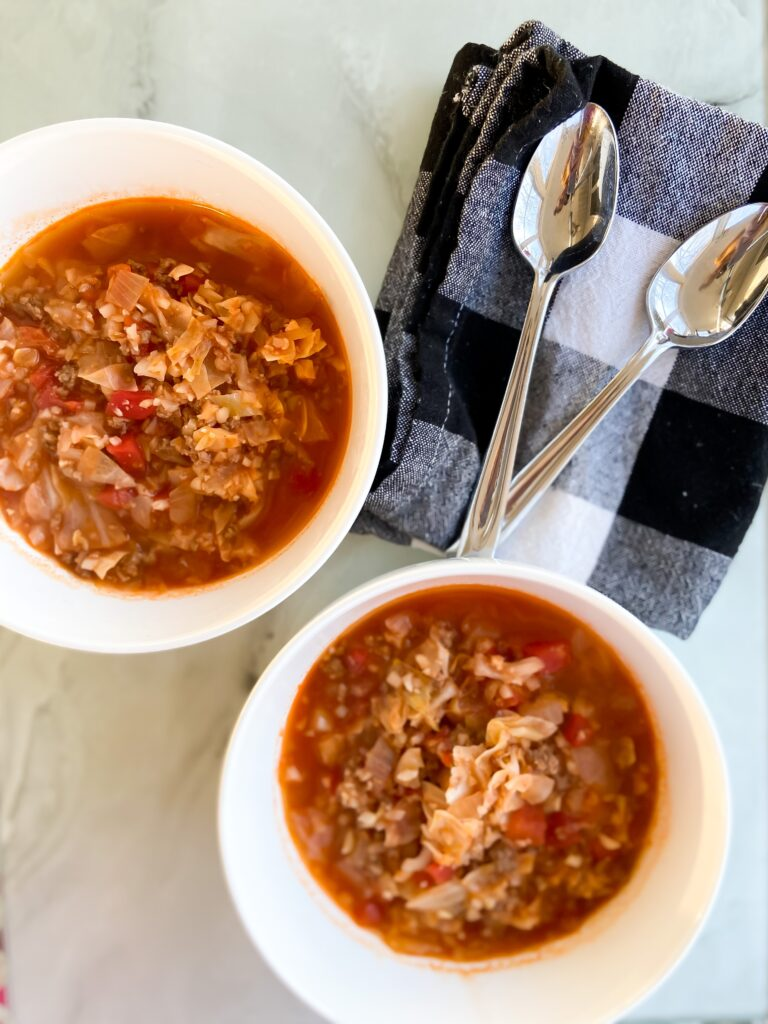 Cabbage Roll Soup (Low-Carb Recipe) | Fourganic Sisters