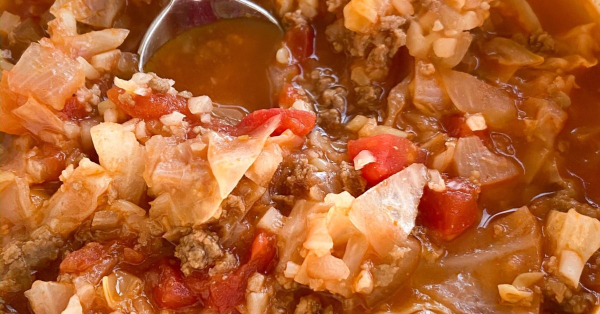 Low-Carb Cabbage Roll Soup Recipe