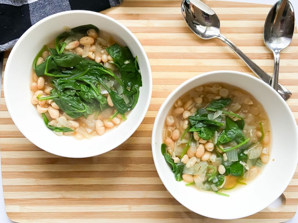 White Bean Spinach Soup | Fourganic Sisters