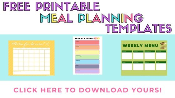Free Printable Meal Planner Template | Fourganic Sisters