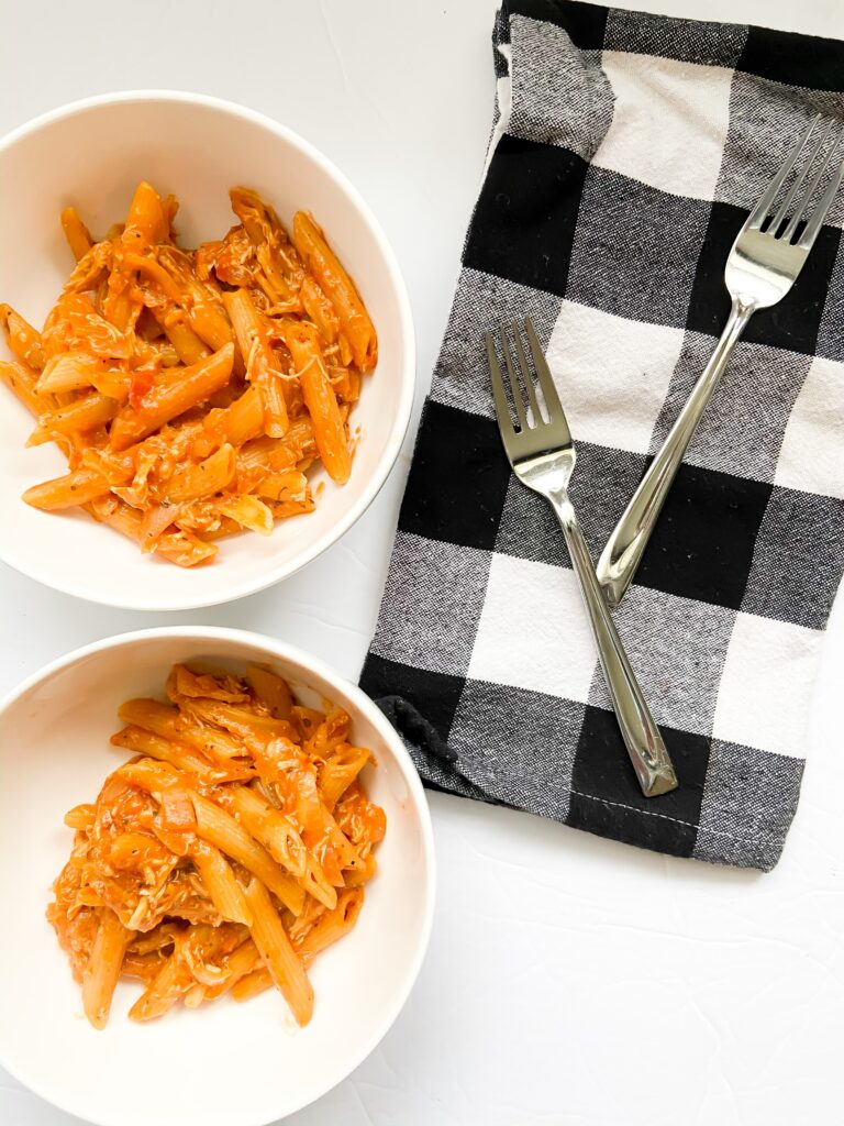 Two Bowls of Chicken Parmesan Pasta