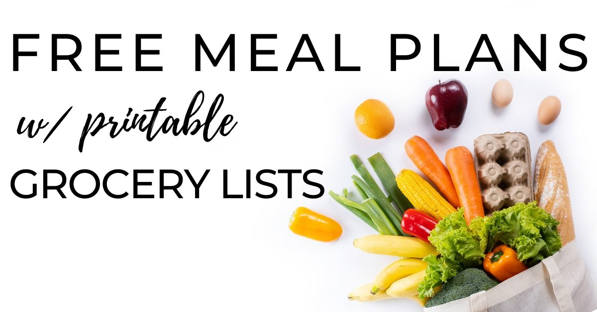 free printable meal planning templates | Fourganic Sisters