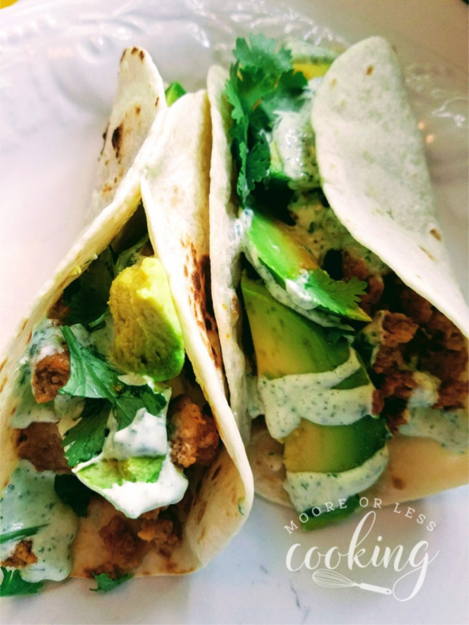 chicken recipes for Taco Tuesday, soft tacos with chicken and avocado