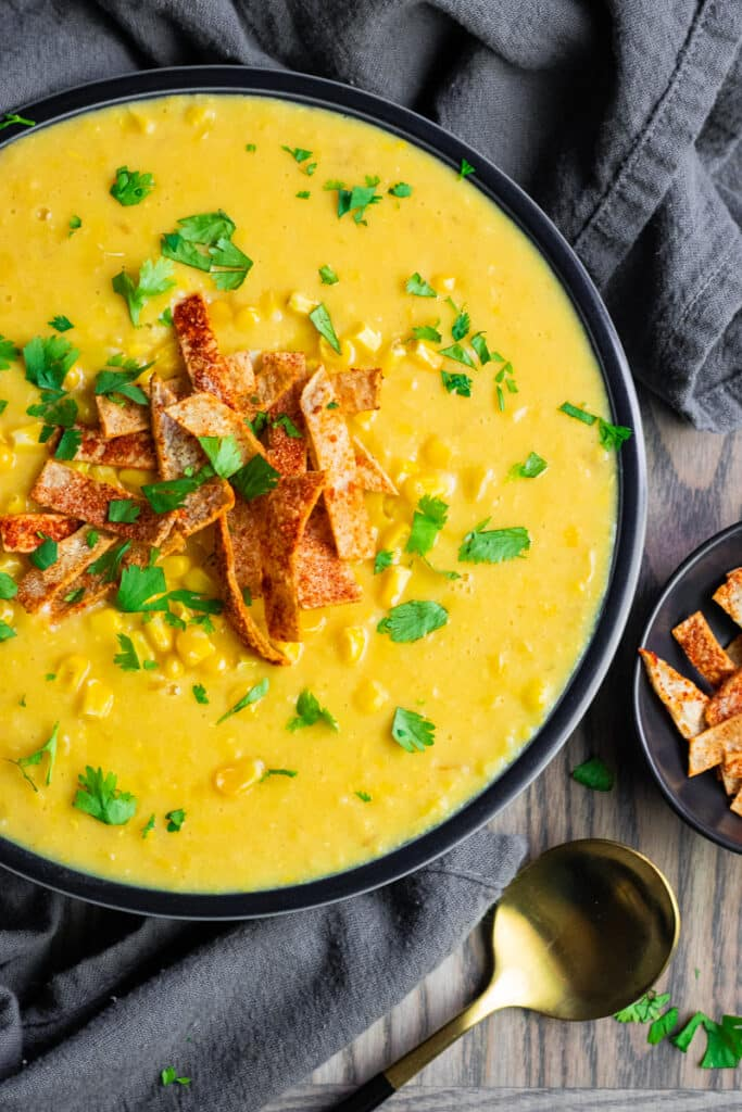 Quick and Easy Instant Pot soups- Corn Chowder