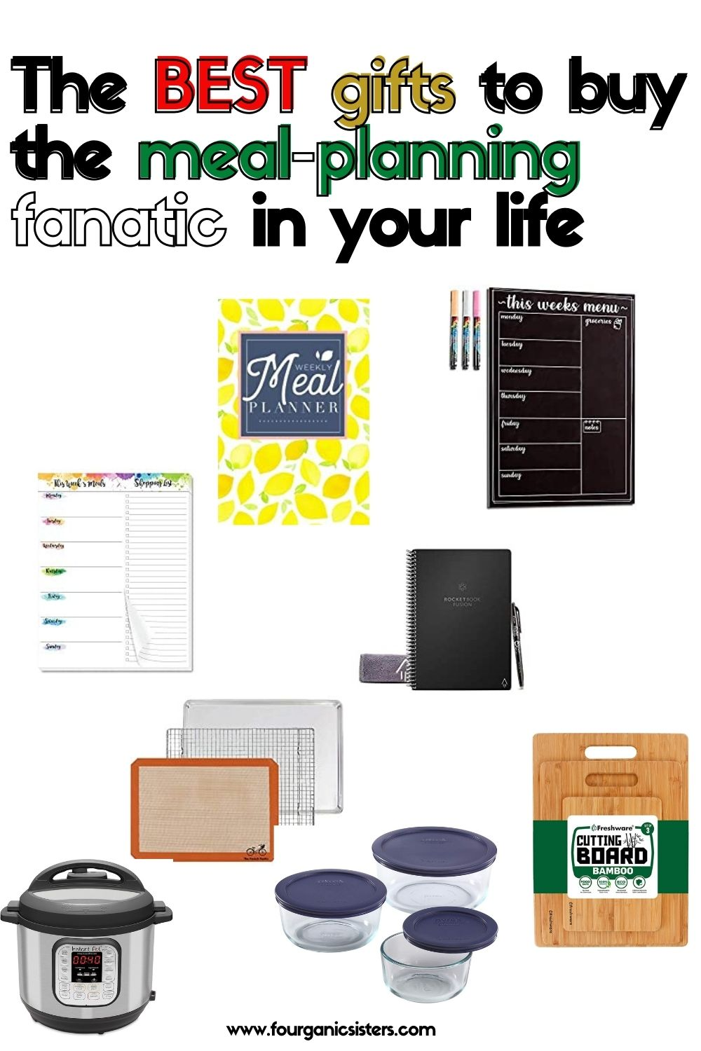 meal planning gift guide